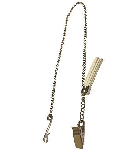 Zipper Genie with Suede Tassel, White ()