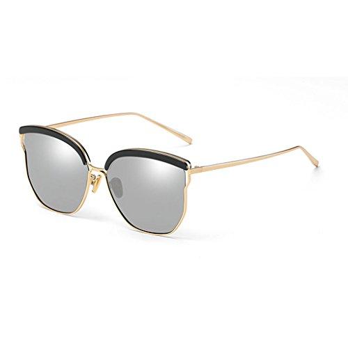de Gafas Sol Sol de polarizadas Color 1 Gafas Coreanas Femeninas Gafas 2 DT Delgadas RwqpSS