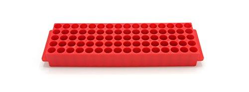Heathrow Scientific HS29025J Microtube Rack, 80 Wells, Polypropylene, Red (Pack of ()