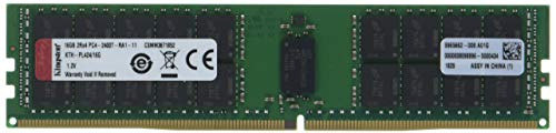 Kingston Technology 16GB DDR4-2400MHz Reg ECC Memory for Select HP/Compaq Servers (KTH-PL424/16G) -