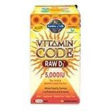 Vitamin Code RAW D3, 5000 iu, 60 veg caps (Pack of 2)