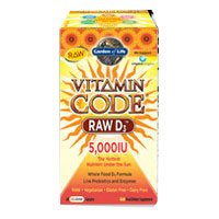 Vitamin Code RAW D3, 5000 iu, 60 veg caps (Pack of 2) by Garden of Life