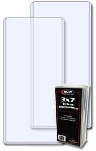 25 ct BCW 3x7 Ticket Top Loaders