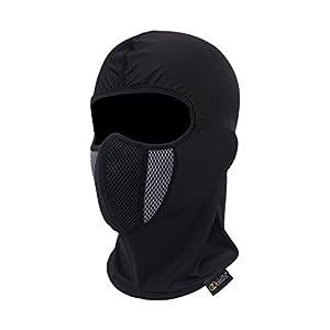 Balaclava Ski Mask, Zoizlla Motorcycle Face Mask for Men/Women, Thin Breathable Face Mask, Tactical Mask Snowboard Headgear Black