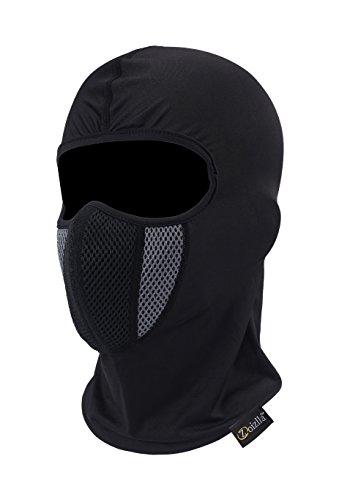 ZOIZLLA Balaclava Ski Mask, Motorcycle Face Mask for Men/Women, Thin Breathable Face Mask, Tactical Mask Snowboard Headgear - Black