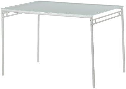 IKEA Lyrestad - Mesa, vidrio esmerilado, blanco - 110x76 cm: Amazon.es: Hogar