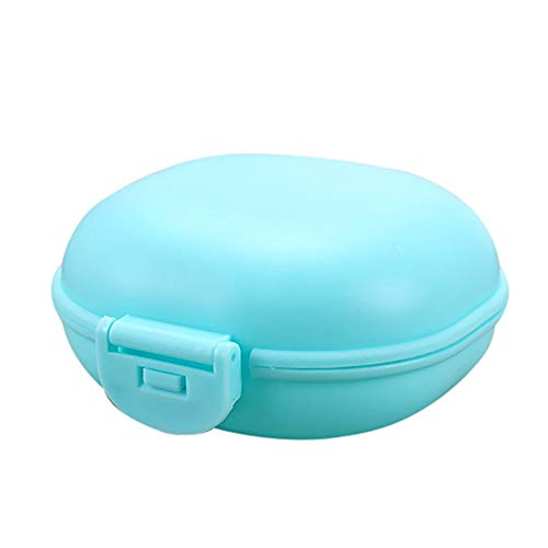 - Wllsagl Xouwvpm New Bathroom Dish Plate Case Home Shower Travel Hiking Holder Container Soap Box Wallet-Style Small Cute Soap Box Solid Color Convenient Box (blue)