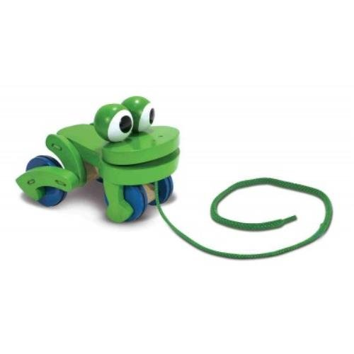 Melissa & Doug Frolicking Frog Pull Toy (Frolicking Frog Pull Toy)