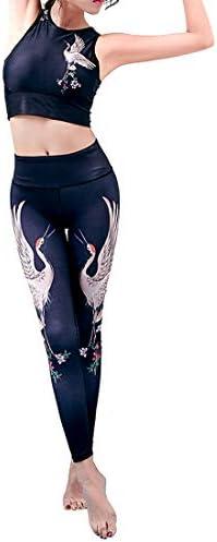 ヨガウェア プリントヨガパンツ女性のタイトレギンススポーツアウトドアレジャーフィットネスヨガ服ハイウエスト速乾性ランニングパンツおなかコントロールパワーストレッチヨガレギンス