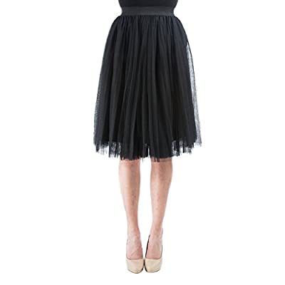 "Aerusi Pleated Tulle Lace Skirt With Elasic Waist fits 20""-36inches"