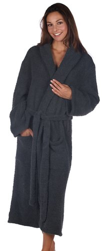 Barefoot Dreams CozyChic Adult Robe (Slate Blue, 3)
