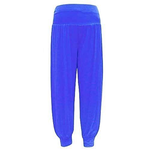 Baba Prettyfashion Azul Damas Harén 8 Plus Holgados Niñas Larga De Pantalones Mujeres Leggings Harem 22 Ali Size wqxnX4tA0