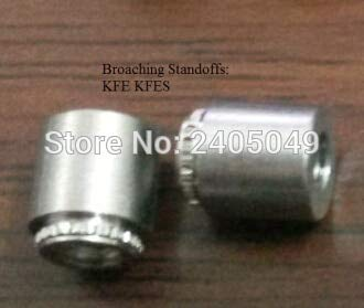 Nuts KFE-3.6-4 Broaching Standoffs, Us in PCB .Carbon Steel, Electro-palted Tin,PEM Standard,instock, No Thread,