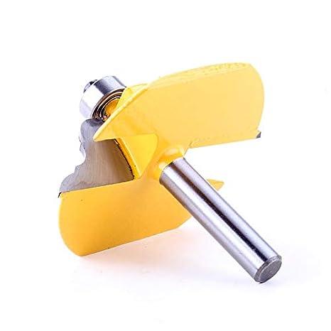 Barroco franc/és L/ínea Cuchillo Cortador de la carpinter/ía Espiga de Corte for Herramientas de la carpinter/ía X-xiazhi tama/ño : 1Pc 8mm 1pc 8 mm V/ástago Tabla Edge Router bit