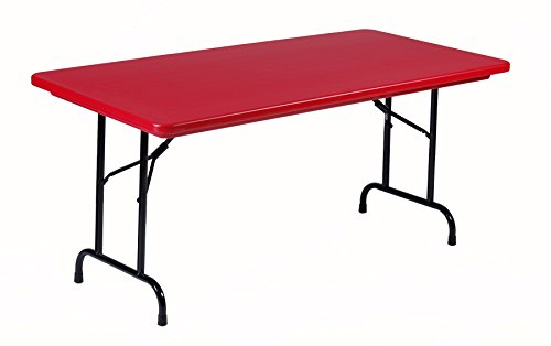 - Correll R3060-25 R3060A-25 R Series Blow Molded Plastic Folding Table, 30