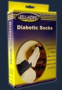 Socks Diabetic Seamfree (Seamfree Diabetic Socks, White, Size M by DJ Orthopedics)