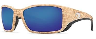 Costa Del Mar Blackfin Sunglasses, Ashwood, Blue Mirror 580 Plastic Lens