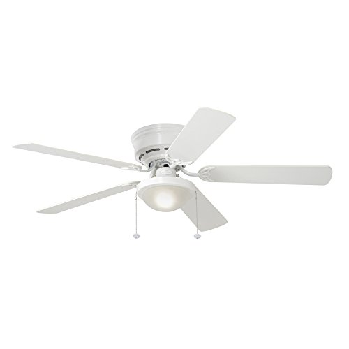 Harbor Ceiling Breeze Fans (Harbor Breeze Armitage 52-in White Flush Mount Indoor Residential Ceiling Fan with Light Kit)