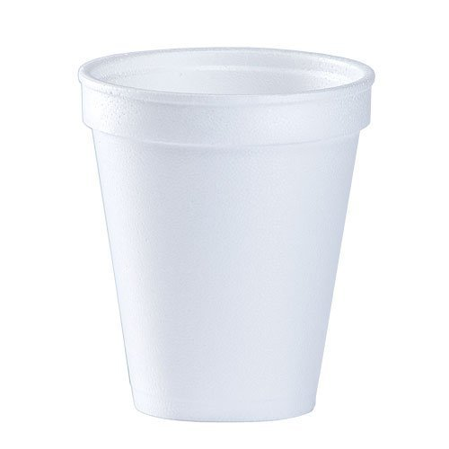 8 Oz White Disposable Coffee Foam Cups Hot and Cold Drink Cup (Pack of 102)