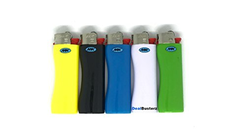 MK Full Size Classic Maxi Grip Disposable Lighter Colors May Vary Pack Of 5,8,12 (5)