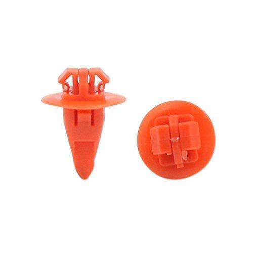 Amazon.com: eDealMax 100pcs 8 x 10 mm Tamaño del agujero guardafangos de la rueda de moldeo de la llamarada del Clip Sujetador del detenedor de Orange: ...