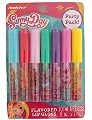 - Flavored Glitter Lips with Nickelodeon Sunny Day Flavored Lip Gloss 7 Piece Gift Set