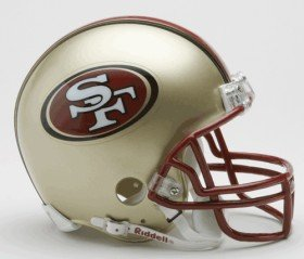 1996 Riddell Mini - San Francisco 49ers Helmet Riddell Replica Mini VSR4 Style 1996-2008 Throwback