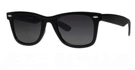 Lunettes De Soleil Style 80's - Monture Noire - Verres Fumés - Mixte Pour Homme & Femme - Nouveau uWK9symS