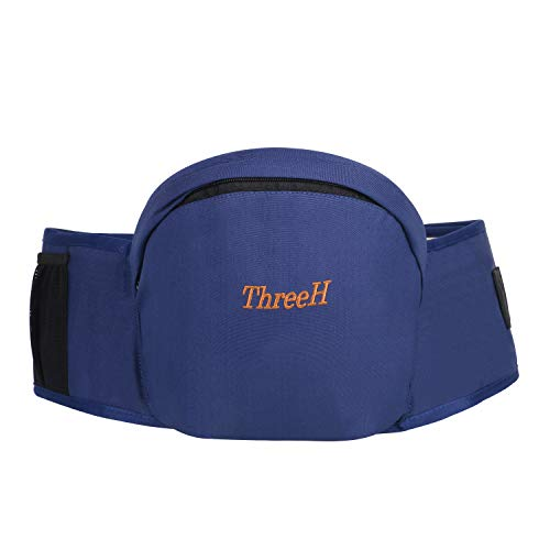 ThreeH Baby Hip Seat Longer Belt 51 Inch Toodler Waist Stool Seat Toddler Seat Carrier Outdoor BC30,Blue