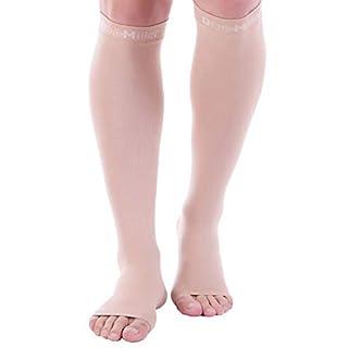 Doc Miller Open Toe Compression Socks - 20-30mmHg Support (2 Pair L)