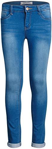 ('WallFlower Girls Insta Soft Stretch Denim Jeans (Roll Cuff/Medium Light Wash, 14)')