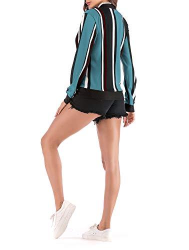 Outerwear Imprim Fr Manches Printemps ulein Femmes Automne Jacket Longues Casual Bomber Fashion Hauts Blousons Fox 6PawFqn6