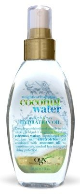 Ogx Coconut Water Weightless Hydration Oil 4 Ounce (118ml) (2 Pack) (Best Water For Hydration)