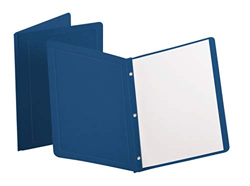 Oxford Panel and Border Front Report Covers, Dark Blue, Letter Size, 25 per Box, (ESS51626)