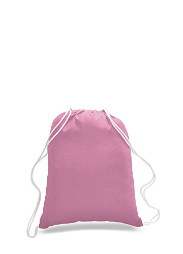 Pack of 2 - Eco-Friendly Reusable Drawstring Bag Economical 6 oz. Cotton Canvas Drawstring Bag Cinch bags size 14