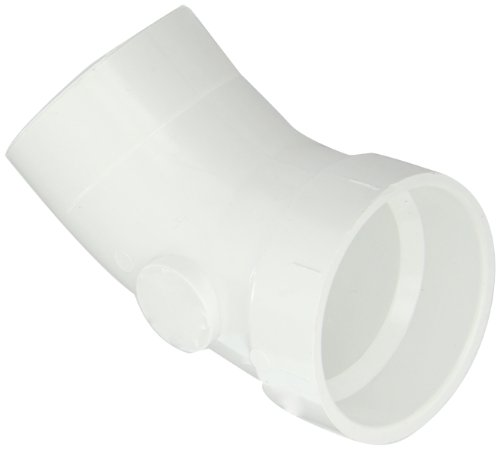 Spears P323 Series PVC DWV Pipe Fitting, 1/8 Bend, Elbow, 2