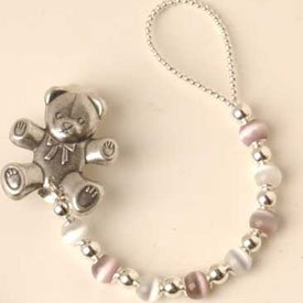 UPC 009243402725, Baby Name Personalized Beads Pacifier Bear Clip - Color: Lavender