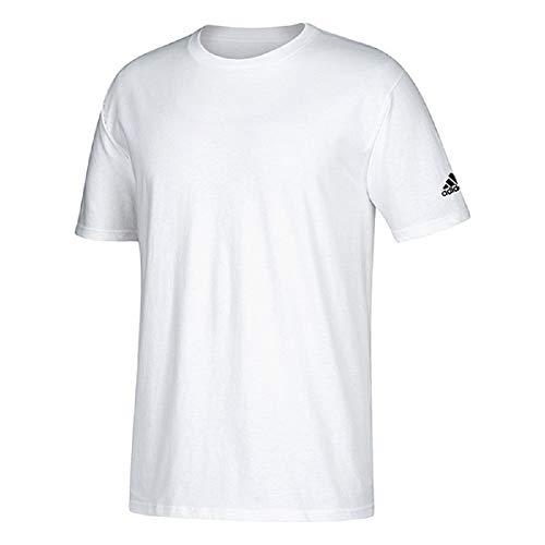 Adidas Adult Short Sleeve Logo T-Shirt White, Medium