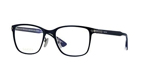Gucci - GG0070O Optical Frame TITANIUM (Black, - Titanium Frames Gucci Eyeglasses