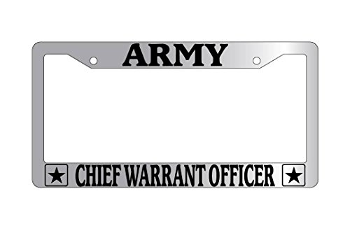 Army Chief Warrant Officer Chrome Plastic License Plate Frame ()