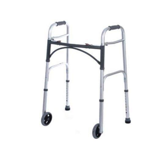 Drive Deluxe Folding Walker with 5 Inch Wheels, 10210-4, 32-39 Inch Height - 1/Each by Drive
