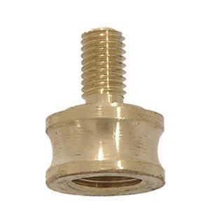 B&P Lamp 1/8F X 1/4-27M Converter Riser (1/8 Ip Unfinished Brass)