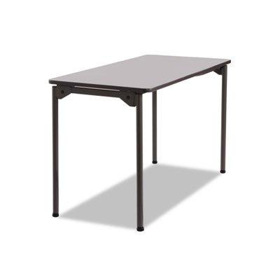 ICEBERG ENTERPRISES Maxx Legroom Rectangular Folding Table, 48w x 24d x 29-1/2h, Gray/Charcoal, Sold as 1 (Iceberg Enterprises Folding Chair)