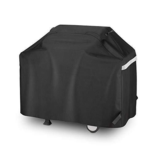 Hisencn BBQ Grill Cover 55 Inch Heavy Duty Waterproof Barbecue Gas Grill Cover for 3 to 4 Burners Grill, All Weather Protection for Weber, Charbroil, Nexgrill, Brinkmann, Char Broil, Dyna-Glo and More