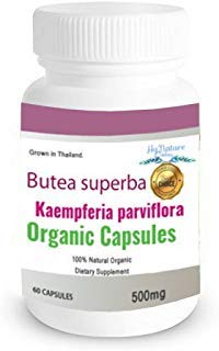 60CAPS 500mg Butea superba Kaempferia parviflora 100% Premium Grade Grown in Thailand.