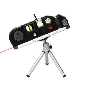 Optical Maser Tier Bill Rule - 3pcs Set Level Vertical Line Tape Adjusted Multifunctional Standard Ruler Stand Tripod Horizontal Instrument - Measurement Pull Measuring