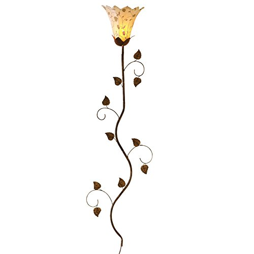 Metal Floral Petals Wall Brown
