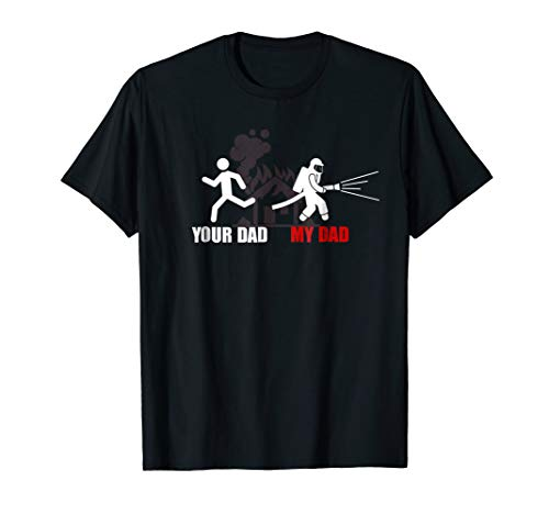 (Kids Daddy is my hero/ firefighter My dad-your Dad T-Shirt)