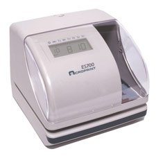 (Acroprint 01-0182-000 Model ES700 Electronic Time Recorder, Internal Battery Backup Maintains Time Even During Power Outages, Accommodates Right or Left-hand Time Cards, Selectable Hour)