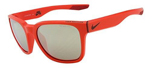 Nike EV0875-806 Recover R Sunglasses (One Size), Hyper Crimson/Team Red, Smoke with Super Silver Flash (Frame Crimson Red Lens)